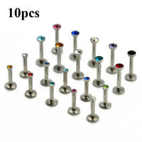 Surgical Steel Flat CZ Gem Ear Cartilage Tragus Helix Piercing Labret Lip Studs