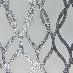 Arthouse Sequin Trellis Charcoal Grey Silver Geometric Glitter Wallpaper 921802