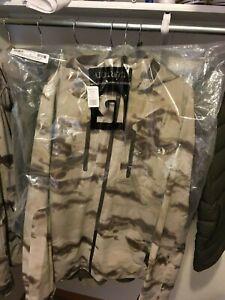 Burton AK Pitch Softshell Jacket Smoke Camo NEW WITH TAGS large