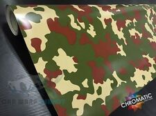 Army Camouflage Vinyl Wrap 152 x 30cm - Bubble Free Camo Car Bike Sticker Foile