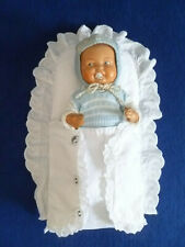 Muñecas antiguas ropa vieja steckkissen taufkissen blanco lavado para muñeca 25 - 30 cm