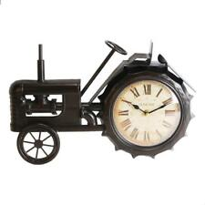 Old Fashioned Vintage Retro Tractor Mantle Clock Ornament W2767