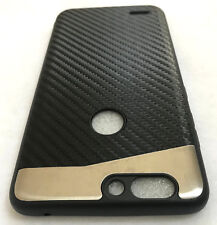 For ZTE SEQUOIA / BLADE Z MAX - Magnetic BLACK Carbon Fiber Hard TPU Rubber Case
