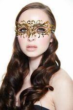 Elegant Gold Venetian Laser Cut Masquerade Mask BD004GD Mardi Gras Prom