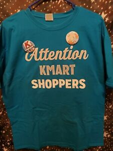 Attention Kmart Shoppers Employee Everythings Cool Cat Tshirt With 2 Buttons XL
