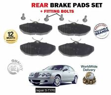 FOR JAGUAR S TYPE 2.5 3.0 4.0 4.2 2.7D R 4/2002--> NEW REAR BRAKE DISC PADS SET