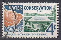 USA Briefmarke gestempelt 4c Water Conservation US Postage Rundstempel  / 2523