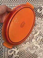 Descoware Belgium Orange Enamel Cast Iron Au Gratin/Casserole Dish 14-D 26 R Fe