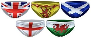ACCLAIM Home Nations British Sports Fit 7 cm Flag Brief Swimming Trunks Mens NEW