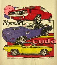 PLYMOUTH CUDA 1970 throwback 4XL tee coupe Barracuda convertible T shirt XXXXL
