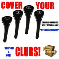 NEW DRIVER GOLF CLUB HEAD COVERS BLACK HEADCOVER FULL COMPLETE 1 3 5 7 WOOD SET