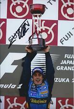 Fernando Alonso SIGNED Formula 1 AUTOGRAPH Renault 12x8 Photo AFTAL COA