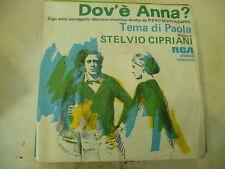 "STELVIO CIPRIANI""DOV'E' ANNA-disco 45 giri RCA 1976  SIGLA TV"""
