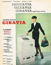 PUBLICITE ADVERTISING  1960   FRIGEAVIA TELEAVIA GIRAVIA  lave linge machine à l