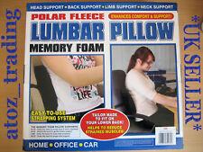 Premium Quality Lumbar Pillow Memory Foam Seat Cushion Home Office Car