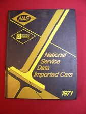 1971 Mitchell National Service Data Imported Cars Tune-Up Manual carburetors etc