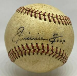 JIMMIE FOXX Single Signed Baseball Autographed PSA/DNA LOA Red Sox HOF