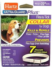 "Hartz UltraGuard Plus Flea & Tick Dog Collar, Water Resistant - up to 22"" Neck"