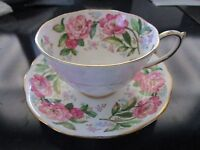 """Roslyn England """"Pink Perfection"""" tea cup and saucer[*16]"""