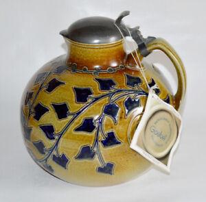 GOEBEL Keramik Krug MERKELBACH JUGENDSTIL ZERTIFIKAT Riemerschmied 1902 Mod 1729