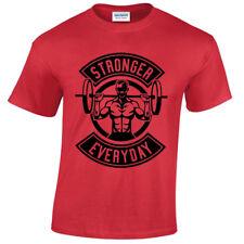 Niño Stronger Cotidiano Camiseta de Manga Corta Levantamiento Pesas Gym