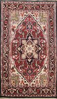 Hand-Knotted Geometric Traditional Oriental Area Rug Home Decor Wool Carpet 4x6