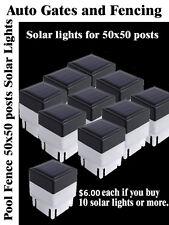 TEN SOLAR LIGHT FENCE POST CAPS LED LIGHT POOL GARDEN POST 50X50