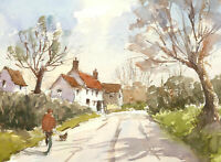 John A. Case - 20th Century Watercolour, English Villages