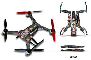 Blade 350 QX2 Drone Wrap RC Quadcopter Decal Sticker Skin Accessory WW2 BOMBER