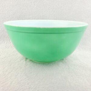 Pyrex Mixing Bowl 403 Nesting 2 1/2 Quart Primary Green Vintage Original Large