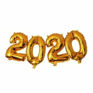 """40"""" Inch Giant '2020' Number New Year Foil Balloons Helium Baloons Ribbons Decor"""