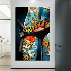 Graffiti Nude Women Body Oil Painting Printed On Canvas Poster And Prints Wall