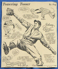RARE 1943 JOHNNY GEE Pirates MLB Newspaper Cartoon Panel