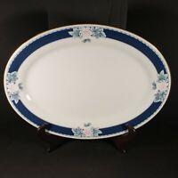 "Vintage Noritake Japan Nightsong Ivory China 14"" Oval Serving Platter Plate"