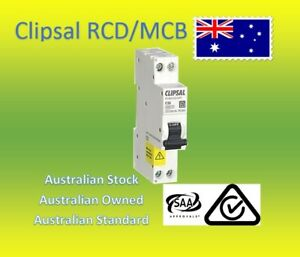 CLIPSAL10/16/20/25/32AMP RCBO RCD/MCB CIRCUIT BREAKER SAFETY SWITCH SLIM