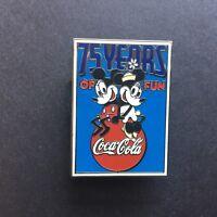 M&P - Coca-Cola Celebrates Mickey 75 Years of Fun Square Poster Disney Pin 31789