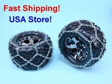 """Nickel plated Snow Chains for Traxxas Stampede RC Truck or 4.7"""" diameter tires"""