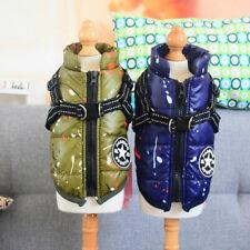 Dogs Padded Jacket Vest Warm Reflective Waterproof Jackets Pet Cat Coat Costumes