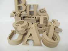 Bunting Letters Premium Quality 95mm High 6mm Thick Times Font