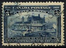 Colonie du canada 1908 SG#191, 5c indigo québec tercentenary utilisé #D37411