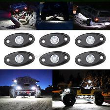 4x White Offroad Truck Car ATV SUV Underbody Glow Light Lamp Tail Light Fit GMC