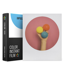 8 IMPOSSIBLE INSTANT COLOR FILMS FOR 600 POLAROID CAMERAS WHITE ROUND FRAMES