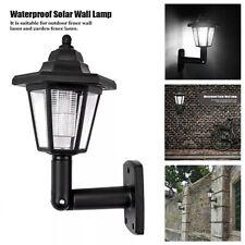 Solar Power LED Light Path Way Wall Landscape Mount Garden Fence Lamp Outdoor
