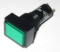 Panel Mount Rectangular LED Indicator - Green - Plastic Case - 3 to 12 V DC
