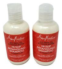Shea Moisture Red Palm Oil Cocoa Butter Hi-Slip Detangling Shampoo 3.2 oz each