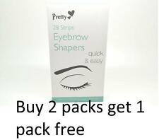PRETTY SMOOTH EYEBROW SHAPERS 28 WAX STRIPS UNWANTED HAIR REMOVER EASILY