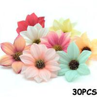 Party Wreath Accessories Silk Gerbera Garland  Artificial Flowers Heads