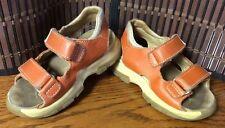 Naturino Sport boys sandals toddler size 7.5 orange tan leather F27