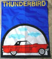 "Garden Flag Ford T-Bird Thunderbird Vintage Car Extra Large 28"" x 35"""