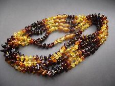 Lot- 5 Genuine Baltic Amber Baby Necklace Mixed Color 32.0 - 33.0 cm